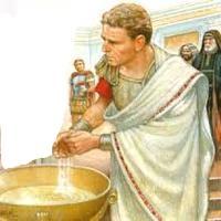 Ponce pilate se lavant les mains